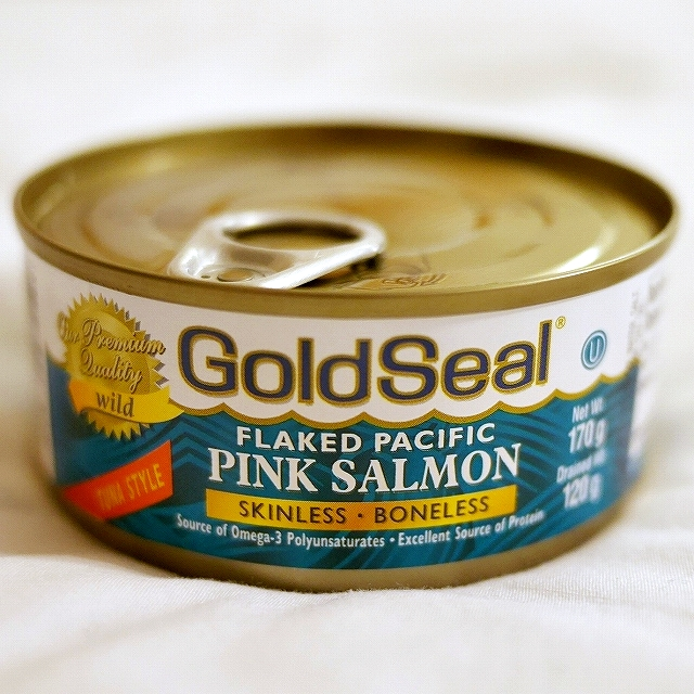 Gold Seal FLAKED PACIFIC PINK SALMON 皮なし・骨なし ピンクサーモン缶詰